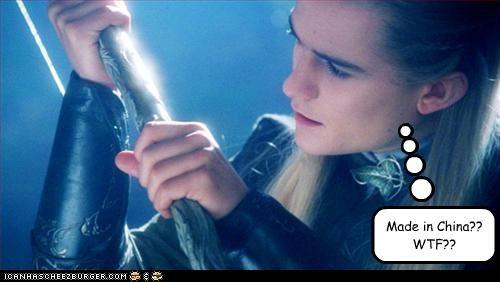 China legolas thranduillion Lord of the Rings movies orlando bloom sci fi swords - 2620195840