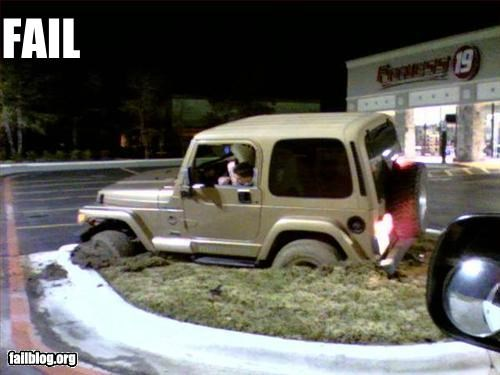 cars g rated jeep off road parking lot stuck - 2620295168