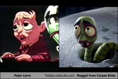 Peter Lorre Totally Looks Like Maggot From Corpse Bride