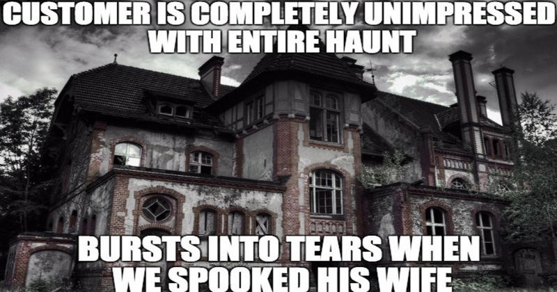 Work stories from someone who worked at a full-contact haunted house.