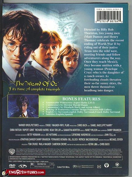 g rated Harry Potter pirated dvd Tom Cruise wtf - 2624772608