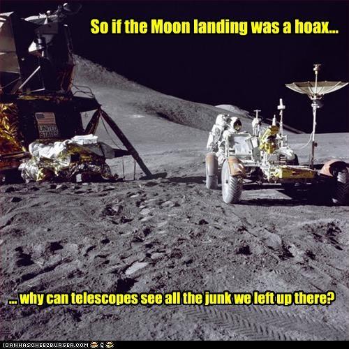 astronauts hoax moon landing nasa Telescope - 2624841728