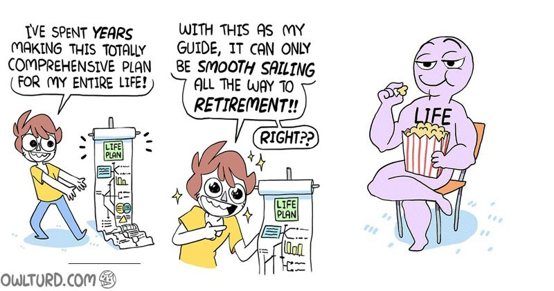 Collection of funny web comics about becoming an adult.