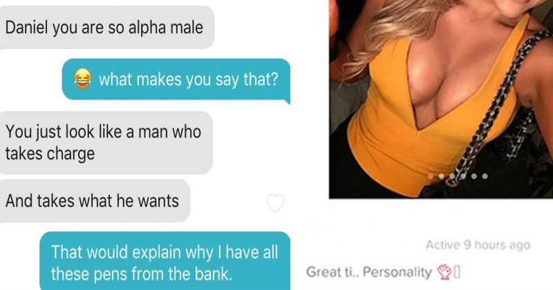 Wild moments from the Tinder dating app that show off how ridiculous people can be.