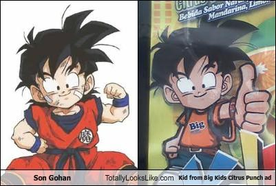advertising,cartoons,dragonball z,son gohan