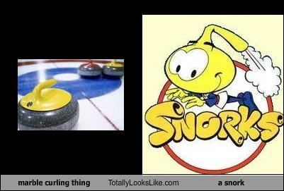 animation,cartoons,curling stone,marble,the snorks