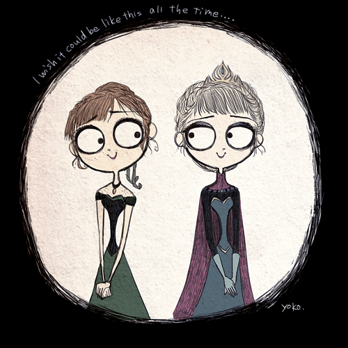 disney Fan Art tim burton frozen list - 262917
