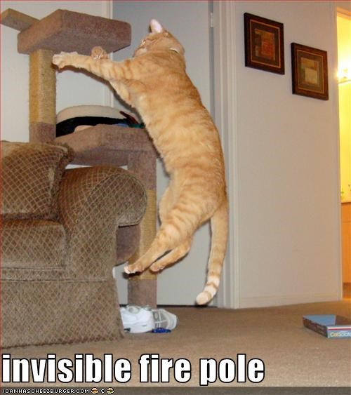 invisible fire pole