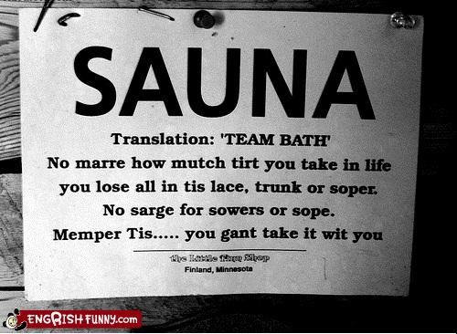 bath bathing sauna signs team