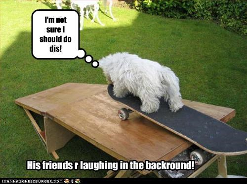I'm not sure I should do dis! His friends r laughing in the backround!