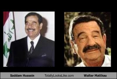 actor,dictator,movies,politician,Saddam Hussein,walter matthau