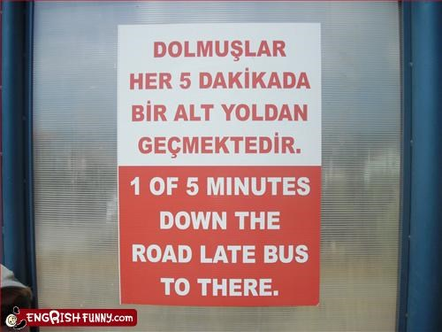 bus g rated late road signs wtf - 2640308992