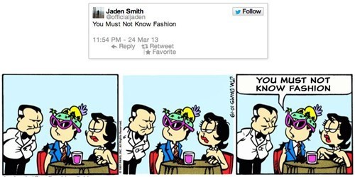 Coupling Jaden Smith's With Garfield Comics is One of The Best Things In The World