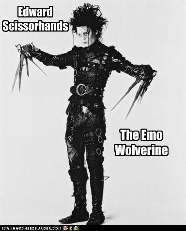 Edward Scissorhands emo Johnny Depp movies tim burton wolverine - 2643009792