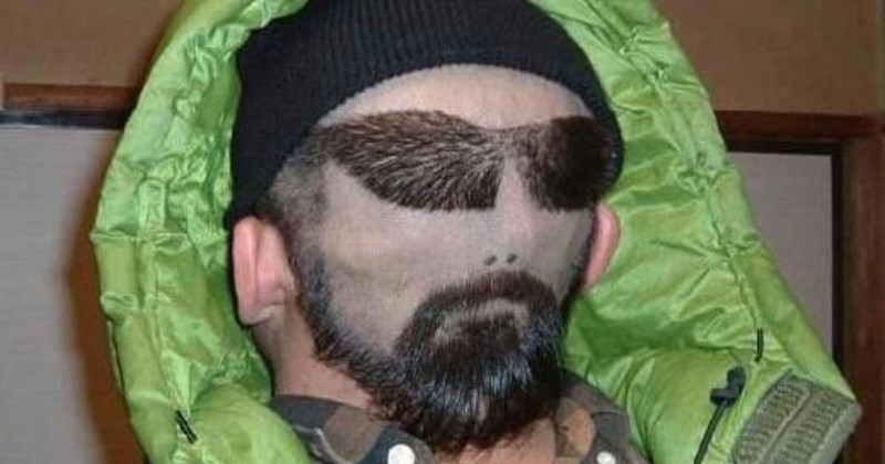 Collection of images of funny and weird hairdos.