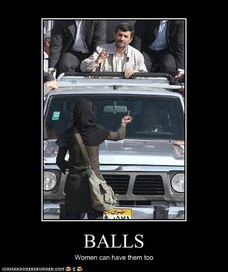 BALLS Women can have them too