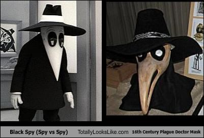Black Spy (Spy vs Spy) Totally Looks Like 16th Century Plague Doctor Mask