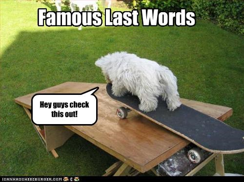 Hey guys check this out! Famous Last Words