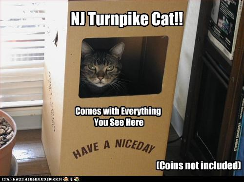 (Coins not included) NJ Turnpike Cat!! Comes with Everything You See Here