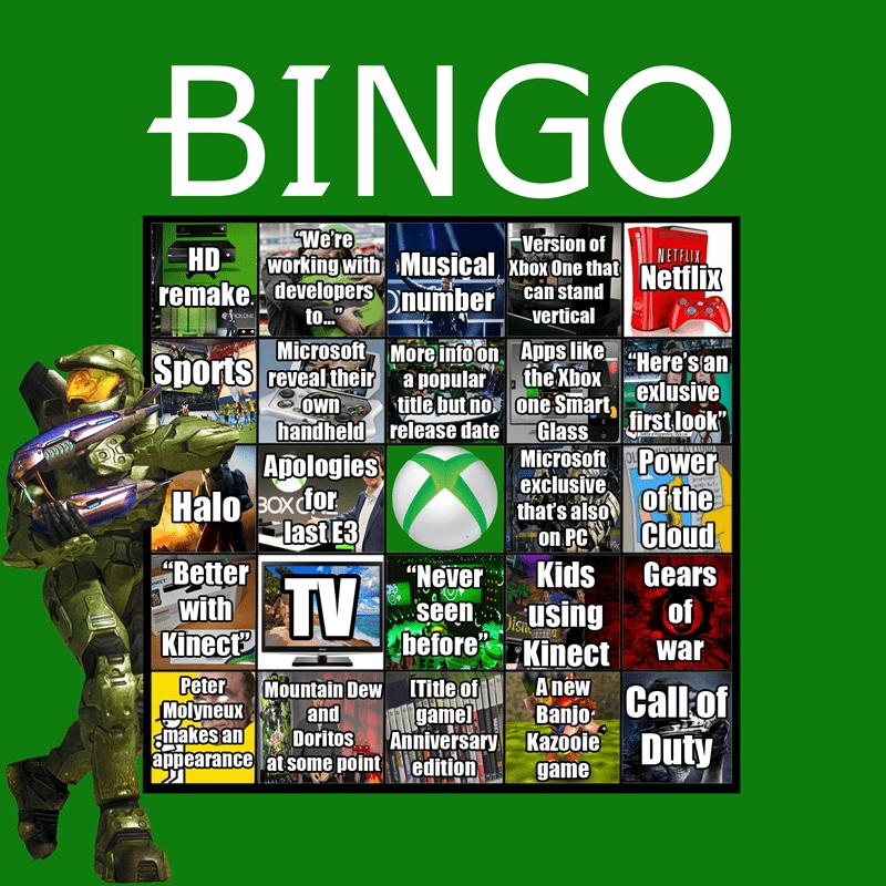 list Sony microsoft nintendo bingo E32014 - 264965