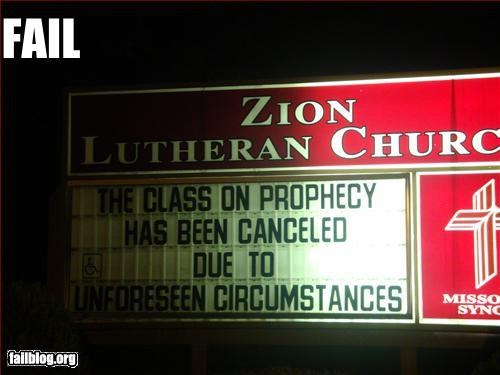 church,g rated,irony,prophecy,signs