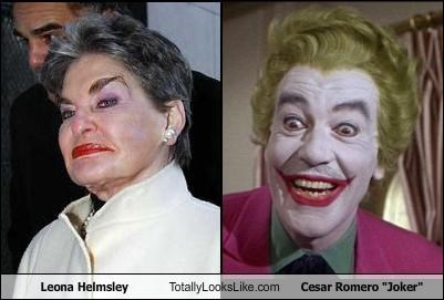 batman cesar romero leona helmsley makeup smile the joker TV - 2653298432