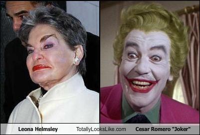 batman cesar romero leona helmsley makeup smile the joker TV - 2653298432