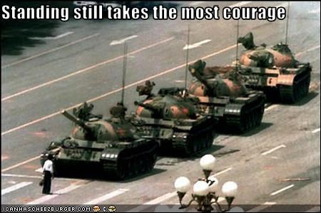 courage protesters tank Tank Man tiananmen square