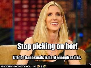 Ann Coulter,right wing,transexual,transgender