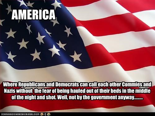 American Flag,citizens,communism,democrats,fear,nazis,Republicans
