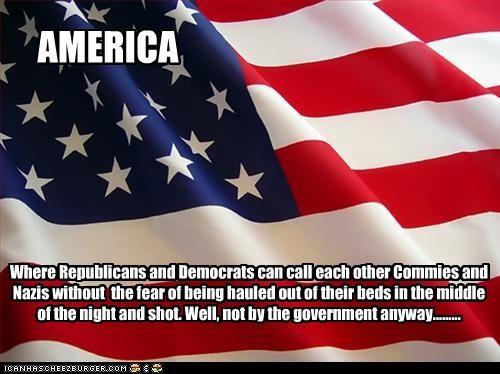 American Flag communism democrats nazis Republicans - 2654875904