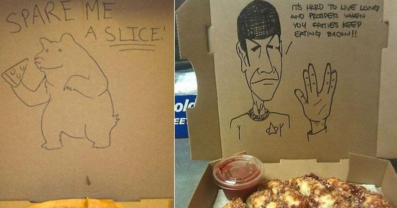 Collection of creative custom pizza orders.
