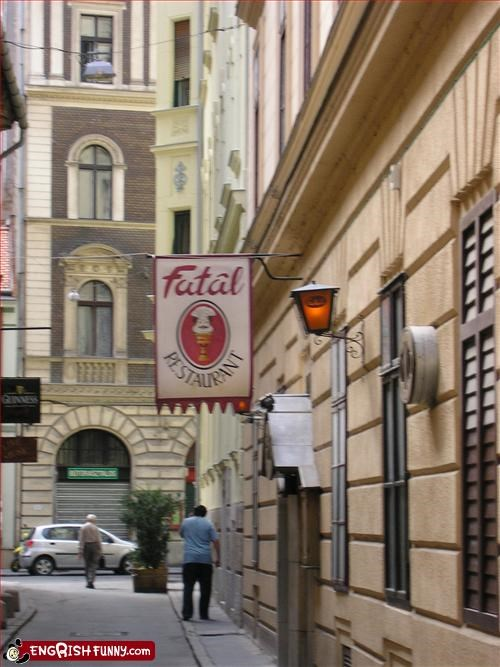budapest,fatal,g rated,hungary,restaurant,signs