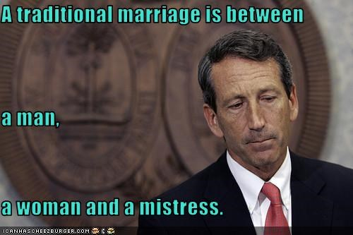 affairs Governor mark sanford mistress south carolina traditional marriage wife
