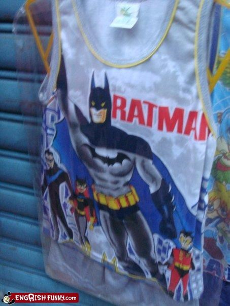 batman,clothing,g rated,rats,T.Shirt