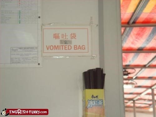 I'll never be eating bag again... Vomited Bag