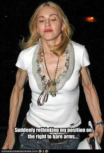 arms bodybuilder Madonna muscular Music singer - 2661597440