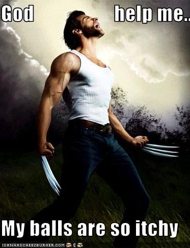 balls hugh jackman itch movies wolverine - 2661928704