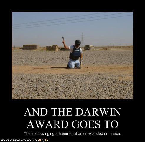 bomb darwin awards idiot - 2663947008