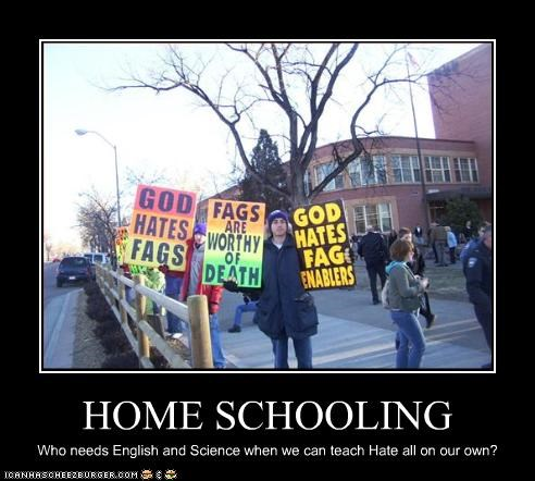 HOME SCHOOLING Who needs English and Science when we can teach Hate all on our own?