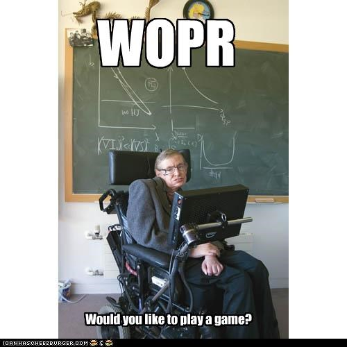 WOPR Would you like to play a game?
