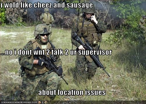 military talk for location