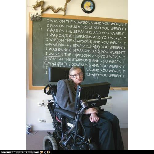 physicist stephen hawking the simpsons TV