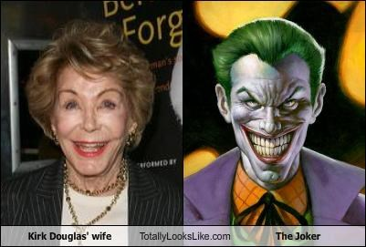 anne douglas,batman,kirk douglas,smile,the joker,wife