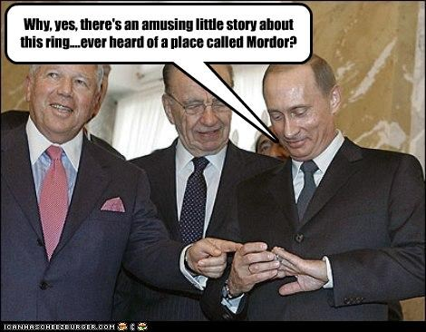 football Lord of the Rings mordor nfl rings robert kraft Rupert Murdoch Vladimir Putin vladurday - 2674382592