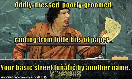 dictator libya lunatic muammar al-gaddafi un United Nations - 2677613312