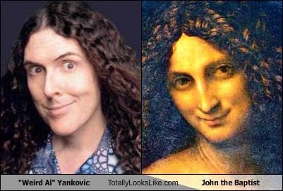 john the baptist,Music,painting,religion,Weird Al Yankovic
