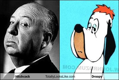 Hitchcock Totally Looks Like Droopy