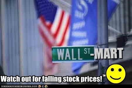 falling prices Stock Market Wall Street - 2678175232
