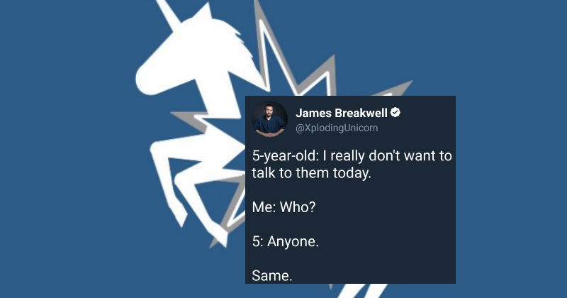 Funny collection of tweets from a great comedian dad personality on Twitter all about struggles of parenting.